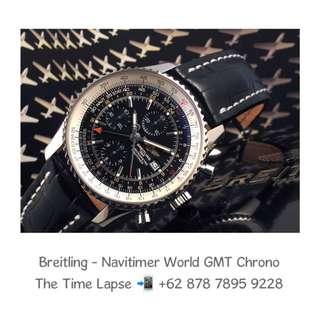 Breitling - Navitimer World GMT, Black Dial Chronograph 46m