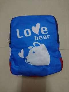 🚚 【全新】LOVE BEAR 收納式超大行李袋