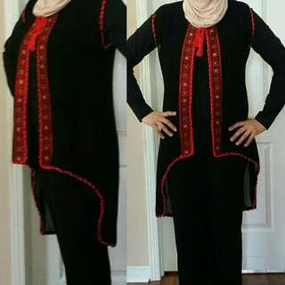 Traditional embroidered  shiffon you can  wear on the top of your clothes to add glamour