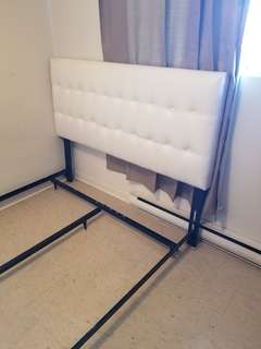 NEEDS TO GO ASAP*white  queen faux white headboard