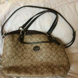 Coach Brown Shoulder Bag With Strap