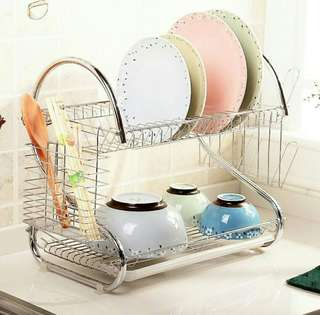 Multipurpose Dish Rack 2 layer stainless steel #mayrathon