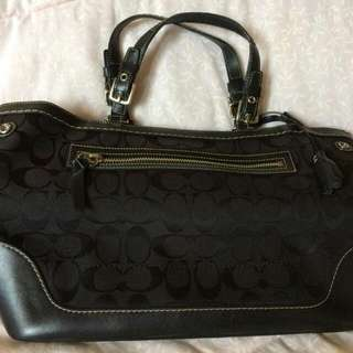 Large Black Coach Handbag