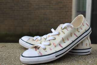 Feather patterned Converse