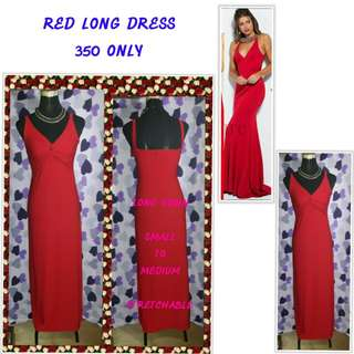 RED LONG DRESS/GOWN
