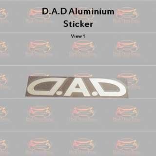Aluminium 3D D.A.D Sticker