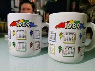 1989年 好立克杯  $60元2隻  老香港懷舊水杯