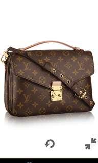 Louis Vuitton Pochette Metis monogram crossbody sling bag