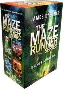The Maze Runner Series with the first four books bu James Dashner