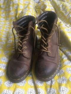 Brown Heeled Docs (air wair)