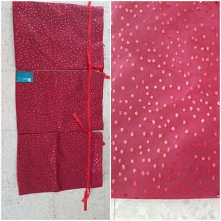 Sparkly cloth bags