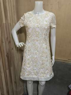 EP COLLECTION LACE EMBROIDERED DRESS