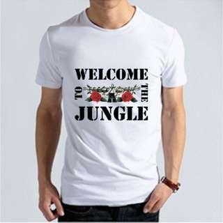 『Welcome to the jungle』HiCool機能性吸濕排汗圓領T恤