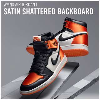 Women's Air Jordan 1 Retro High SATIN SHATTERED BACKBOARD|COLLECTOR'S ITEM|LIMITED QUANTITY