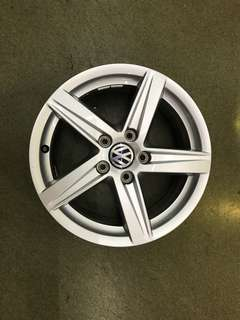 "16"" 5x112 audi oem new car rim 1 set $200"