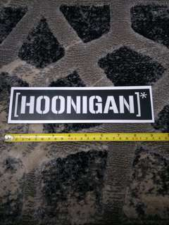 HOONIGAN decals