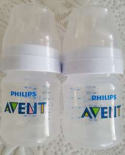 Avent 4oz Classic 2 bottles