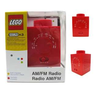 Brandnew Lego AM/FM RADIO RED