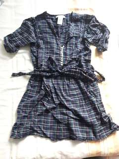 Plaid shirt/dress size s