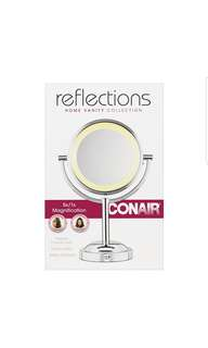 Conair Double-Sided Battery Operated Lighted Makeup Mirror - Lighted Vanity Makeup Mirror