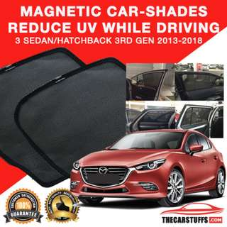 Worldwide Shipping - Mazda 3 2013-2018 Magnetic Carshades