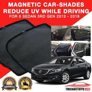 Worldwide Shipping - Mazda 6 2013-2018 Magnetic Carshades