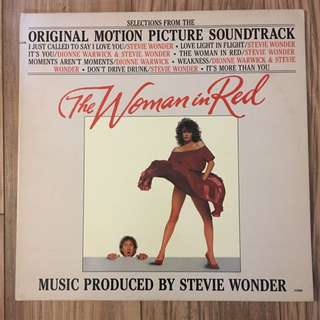 Vinyl LP Record The Woman In Red Stevie Wonder