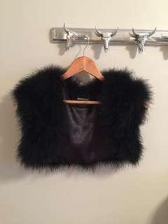 90s Feather Crop Vest