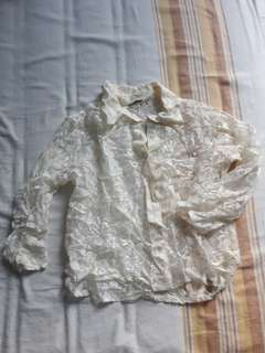 Lace button up shirt size m