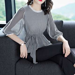 2 pc balloon sleeve blouse and pants set