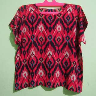 Red Pattern Top