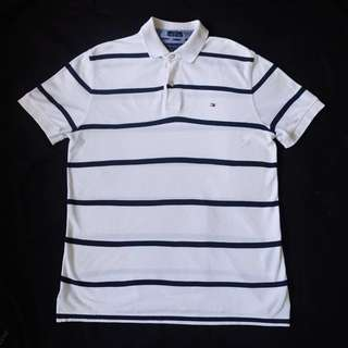 Authentic Tommy Hilfiger Custom Fit Striped Polo Shirt