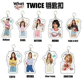 [ PO ] twice what is love keychain
