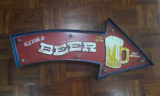 BEER vintage wall decor