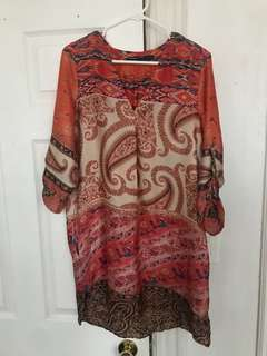 Zara colourful tunic