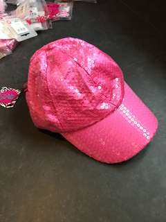 BN Three Cheers for girls pink sequin cap
