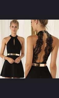 Sexy lace back cut out keyhole ALine dress sleeveless