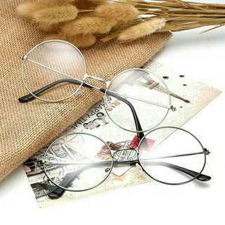 Fashion Unisex Frames Metal Round