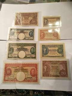 Old notes  8pcs sale $1500