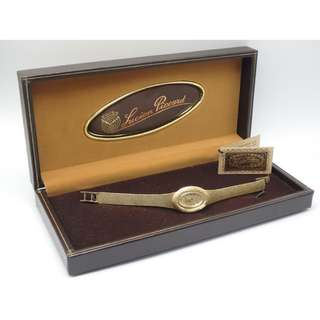 Lucien Piccard 14k Solid Gold watch 女裝上鍊 手錶 w/box
