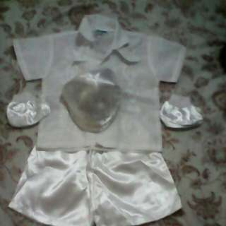 Preloved baptismal clothes for baby boy