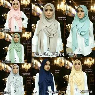 Farha plain instant shawl