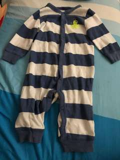 PL carters octopus stripe bodysuit (6m)