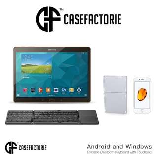 Casefactorie Bluetooth Wireless Keyboard with Touchpad iPad Pro 9.7 10.5 12.9 Air 2 Mini 4 Surface Pro Case Casing Cover Zagg Logitech