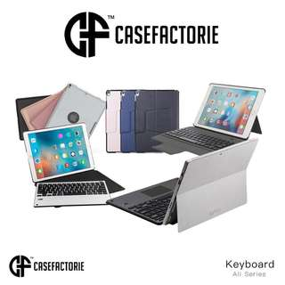 Casefactorie Bluetooth Wireless Keyboard for ios Android Windows iPad Pro 9.7 10.5 12.9 Air 2 Mini 4 Surface Pro Case Casing Cover Zagg Logitech