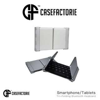 Casefactorie Tri-Folding Bluetooth Keyboard for Smartphone/ Tablets iPad Pro 9.7 10.5 12.9 Air 2 Mini 4 Surface Pro Zagg Logitech