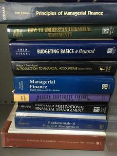 Finance/managerial finance/financial management books