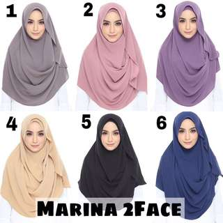 Marina 2 face shawl