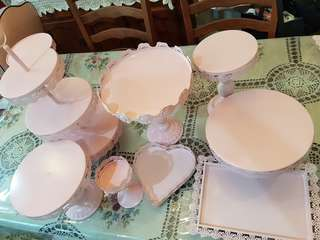 Wrought Iron Cake Dessert Stand ~Pink Party ~ for rental