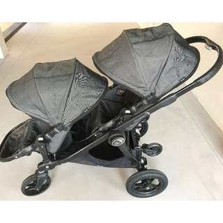 Double Stroller with glider board